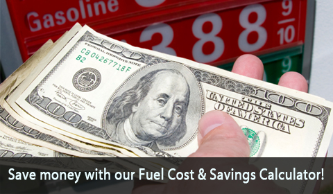 Improved Fuel Economy Saves You Money! Find out how much with our Fuel Savings Calculator