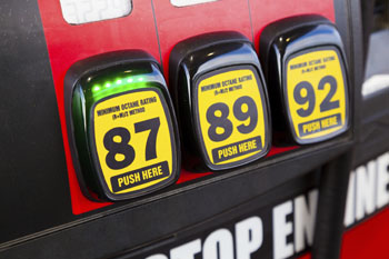Photo of gas pump with octane ratings