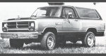 1986 Dodge AW100/AW150 Ramcharger 4WD